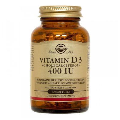 Solgar vitamin d 400 iu cap a 100