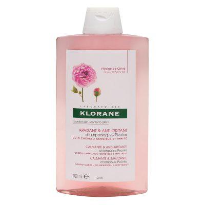 Klorane šampon za iritirano vlasište božur 400ml