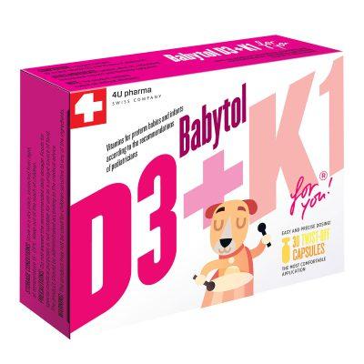 Babytol d3+k1 twist off caps a 30