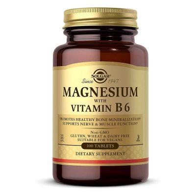 Solgar magnezij+b6 tbl a100