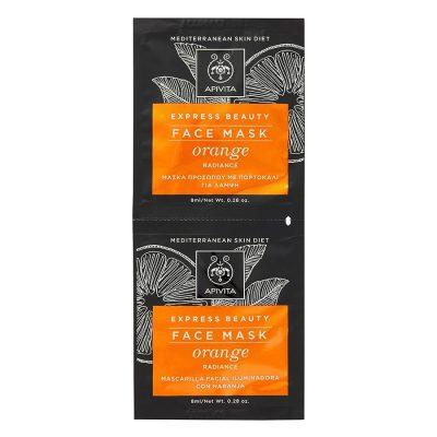 Apivita maska za lice naranča 2x8ml