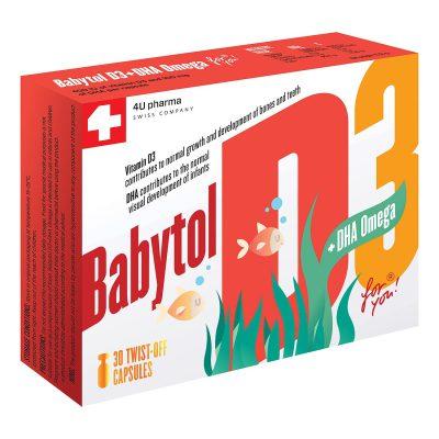 Babytol d3+dha omega cps a30