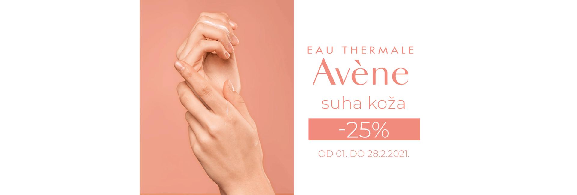 Avene -25% suha koža
