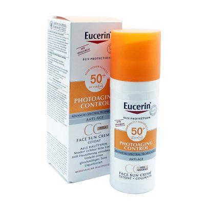 Eucerin sun tonirana cc krema spf50 svijetla 50ml