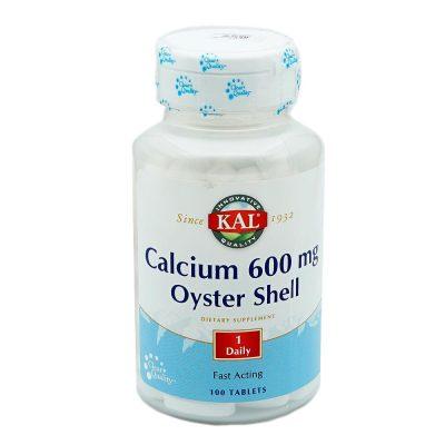 Kal calcium oyster tbl 100x600mg