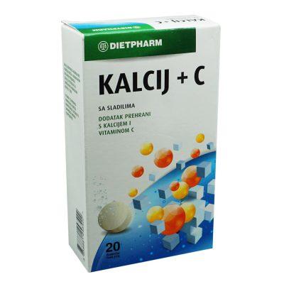 Kalcij + c šumeće tablete a20 dieth