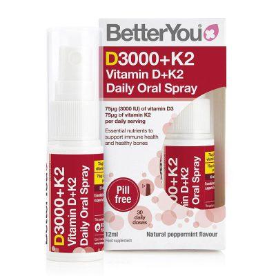 By dlux vitamin d3+k2 spray 12ml