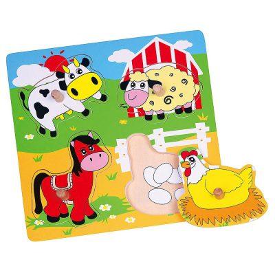 Viga flat puzzle životinje 59562
