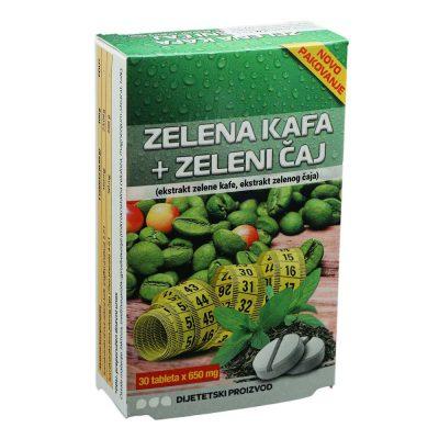 Zelena kava + zeleni čaj tbl. a30