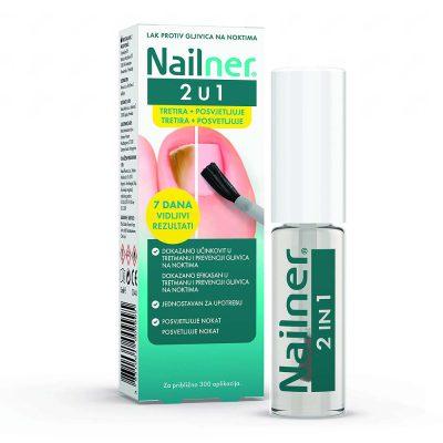 Nailner lak 2u1 5ml