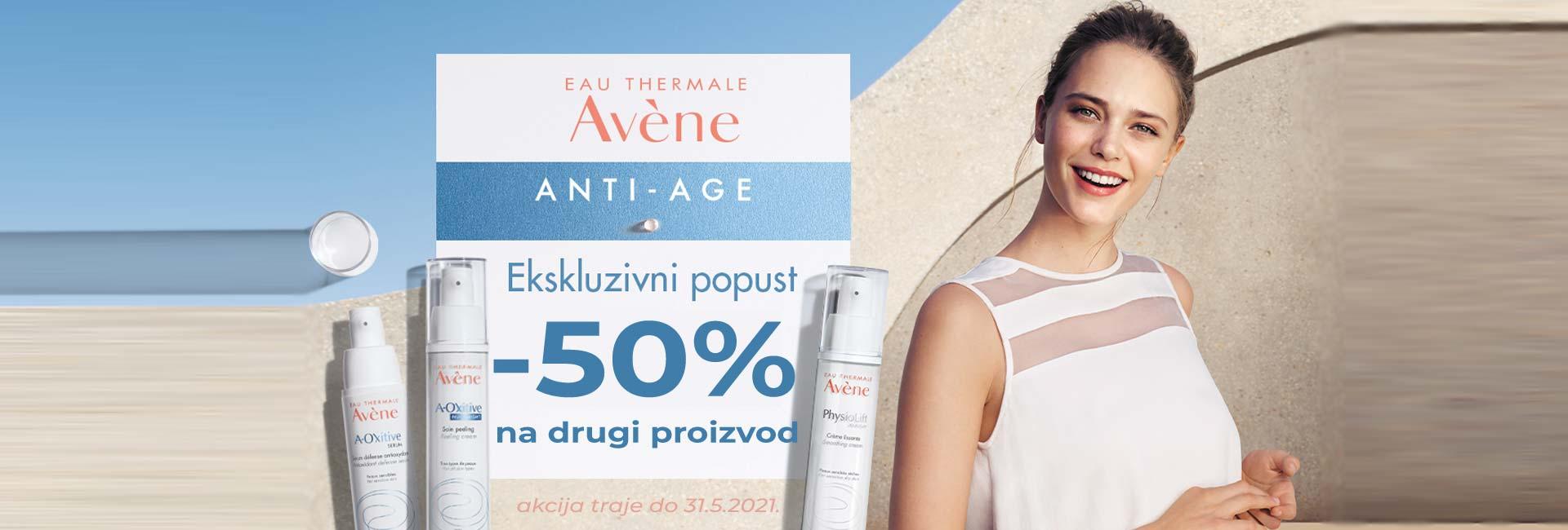avene anti age -50% na drugi proizvod