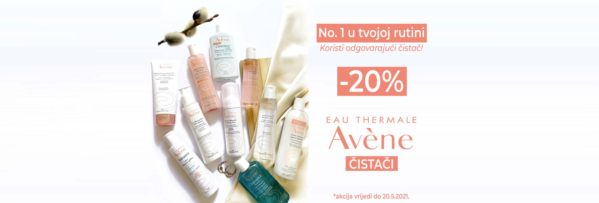 avene čistači -20% do 20.5.2021.