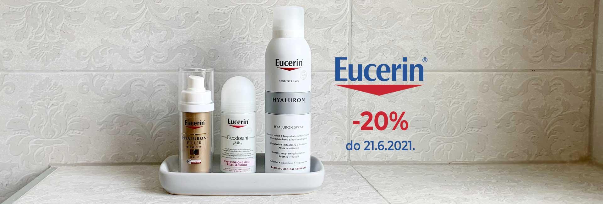 eucerin -20% do 21.6.21.