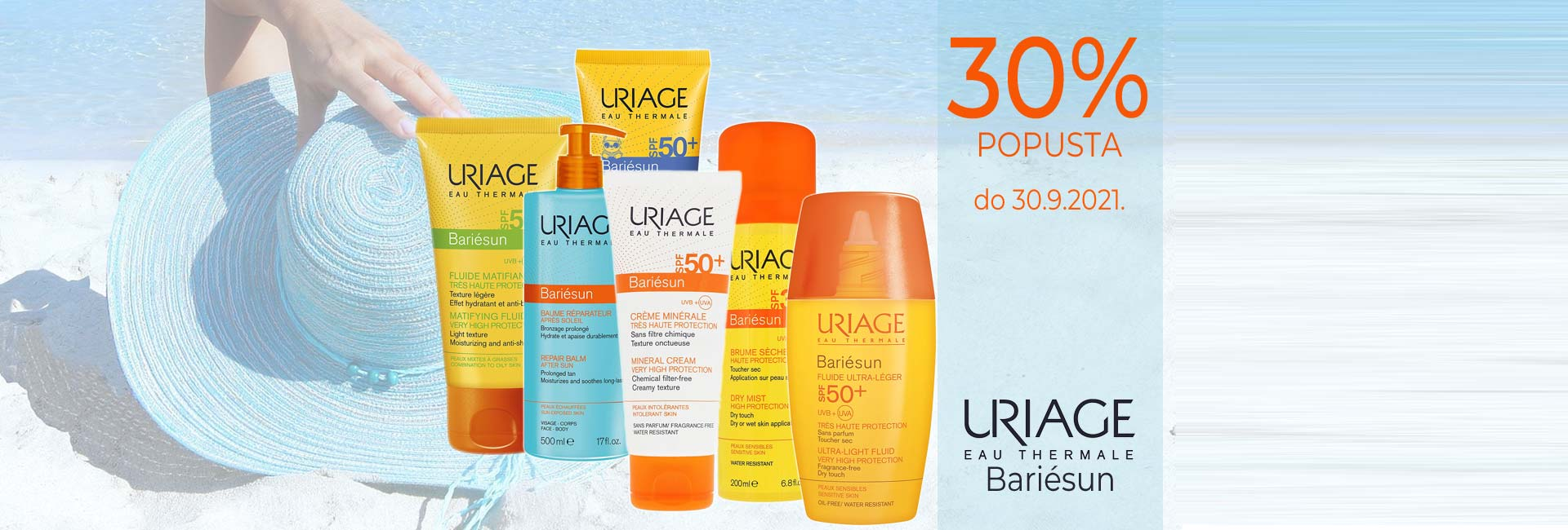 uriage sun -30% do 30.9.2021