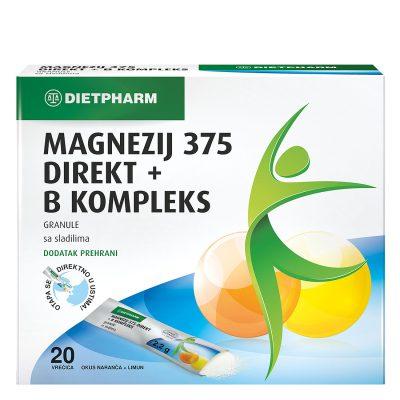 Magnezij 375+b kompleks granul.20